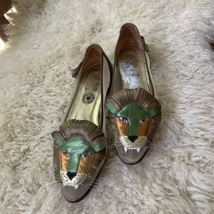 ENZO OF ROMA RARE VINTAGE LION SHOES